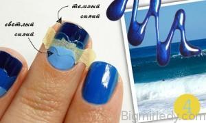 Пляжний манікюр «Моя морячка»_4