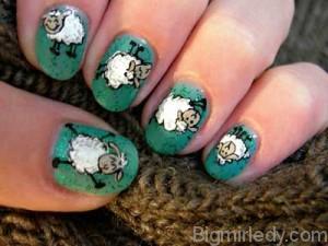 Манікюр з овечками - мило і з гумором 11