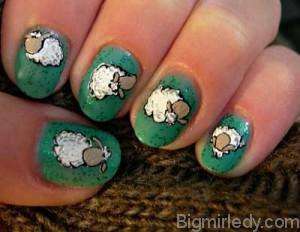 Манікюр з овечками - мило і з гумором 7jpg