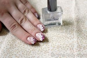 Майстер-клас з розпису нігтів «Білі троянди»11