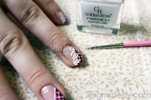 Майстер-клас з розпису нігтів «Білі троянди»9