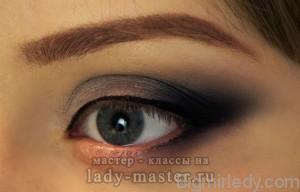 Макіяж для великих очей «скошена діагональ в олівцевій техніці» 5