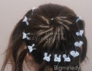 Святкова зачіска для дівчинки в домашніх умовах 4