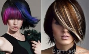Часте  мелірування на темне волосся  2