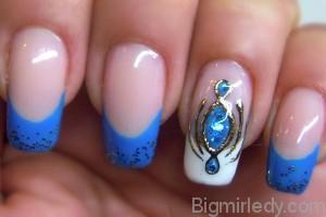 Дизайн нігтів рідкі камені 3