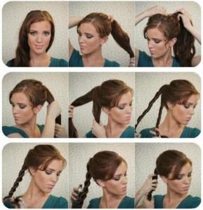 Прості зачіски на середні волосся своїми руками 1