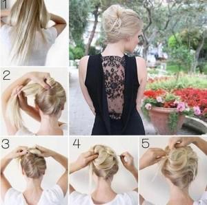 Прості зачіски на середні волосся своїми руками 10