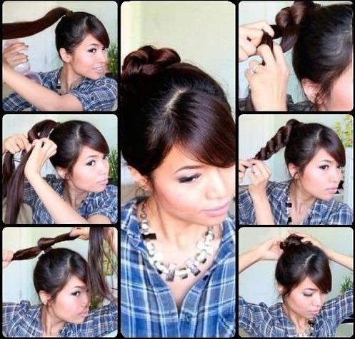Простые причёски с чёлкой своими руками 893