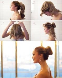 Прості зачіски на середні волосся своїми руками 12
