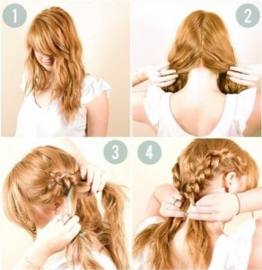 Прості зачіски на середні волосся своїми руками 13