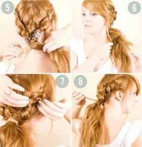 Прості зачіски на середні волосся своїми руками 14