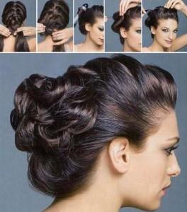Прості зачіски на середні волосся своїми руками 3