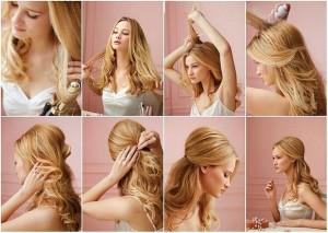 Прості зачіски на середні волосся своїми руками 4