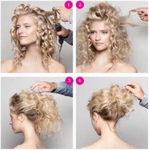 Прості зачіски на середні волосся своїми руками 5