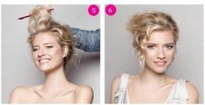 Прості зачіски на середні волосся своїми руками 6