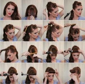 Прості зачіски на середні волосся своїми руками 7