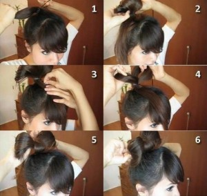 Прості зачіски на середні волосся своїми руками 9