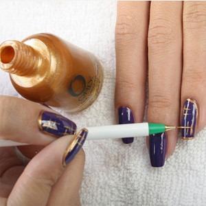 Як зробити малюнки на нігтях голкою 1