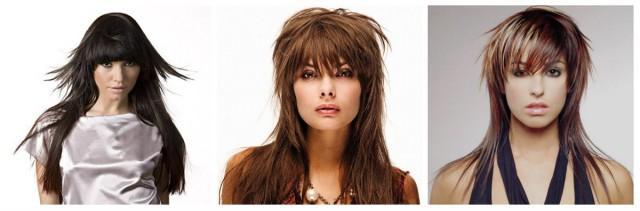 Довге волосся стрижки креативні, симетричні і асиметричні 1