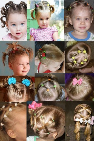 Дитячі зачіски фото на кожен день 2