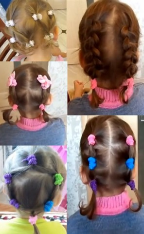 Дитячі зачіски фото на кожен день 4