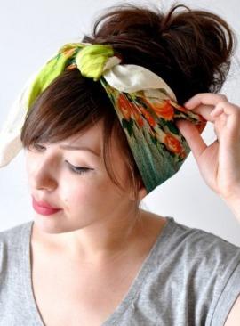 Зачіски фото з хусткою як правильно зробити