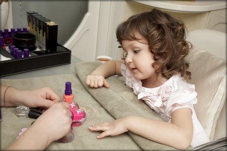 Фото манікюр для дітей – салонний та вдома