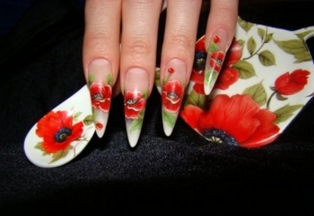 Дизайн нігтів фото - флористичні мотиви 2