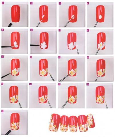 Дизайн нігтів фото - флористичні мотиви 3