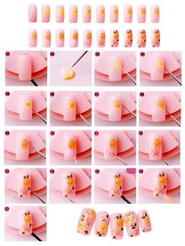 Дизайн нігтів фото - флористичні мотиви 4