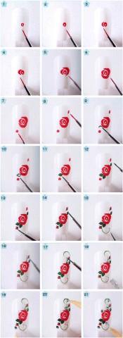 Дизайн нігтів фото - флористичні мотиви 6