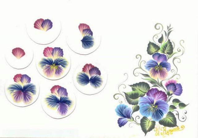 Дизайн нігтів фото - флористичні мотиви 7