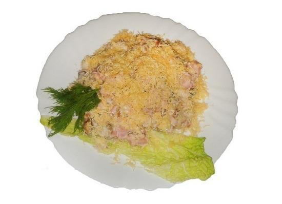 Салати рецепти фото – ананас і сир 1