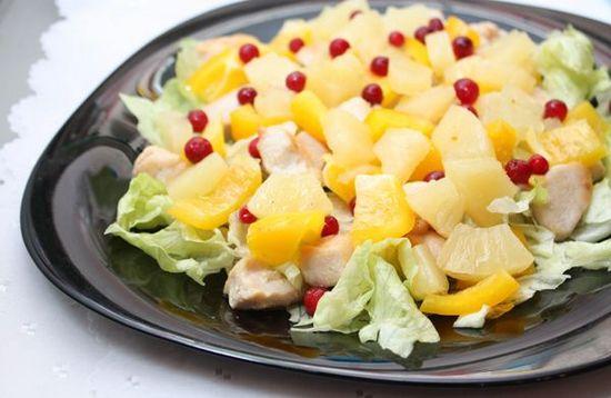 Салати рецепти фото – ананас і сир 3