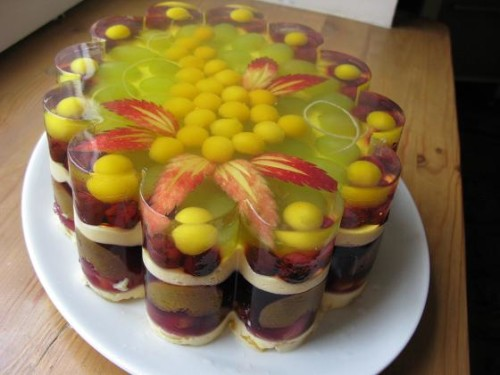 Торт желе рецепт без випічки і ідеї прикраси 3