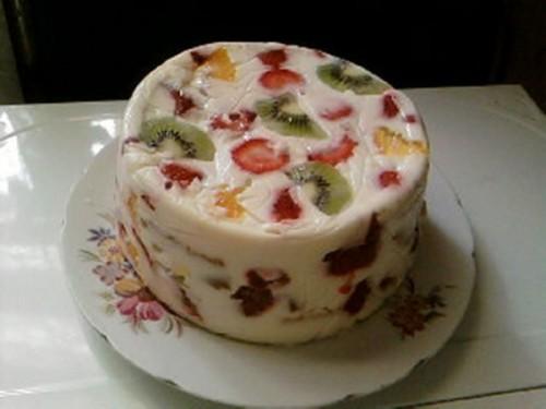 Торт желе рецепт без випічки і ідеї прикраси