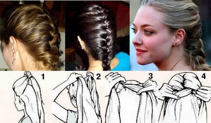 Как плести косы самой себе на коротких волосах
