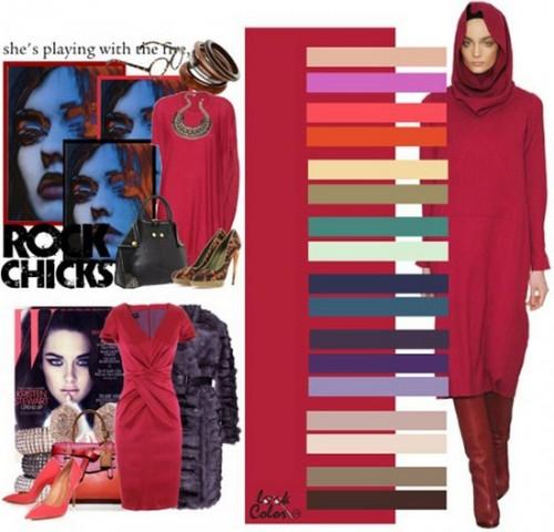 Поєднання кольорів з червоним на нігтях, в одязі та інтер'єрі 1