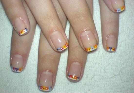 Французький манікюр на короткі нігті – крок за кроком 3