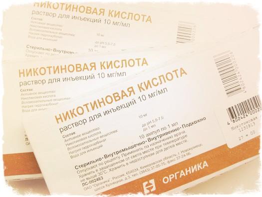 Нікотинова кислота для волосся. Застосування