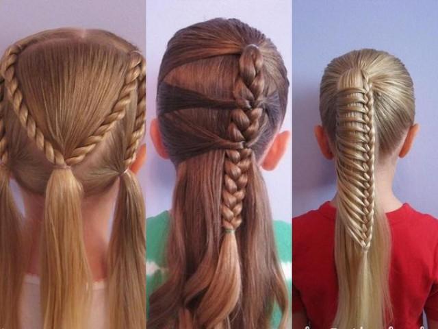 Стильні зачіски каре для дівчаток на довге волосся 17