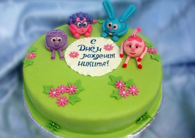 как украсить торт мастикой для ребенка фото