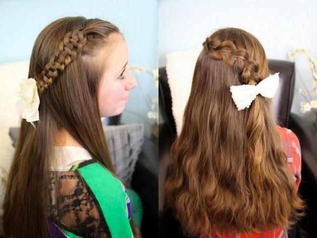 Зачіски з розпущеним волоссям – привабливі 17