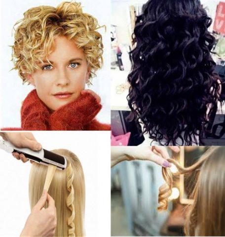 Як накрутити волосся утюжком різні види локонів 1