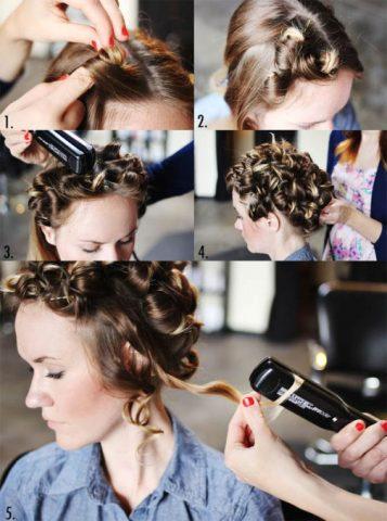 Як накрутити волосся утюжком різні види локонів 2