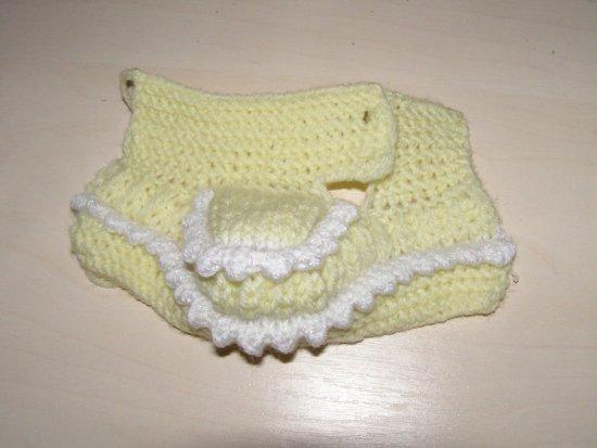 Майстер-клас в'язання спицями пінеток для немовлят 10