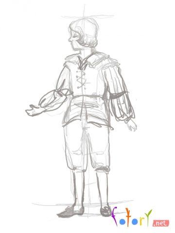 Як намалювати олівцем людей схеми для початківців 10