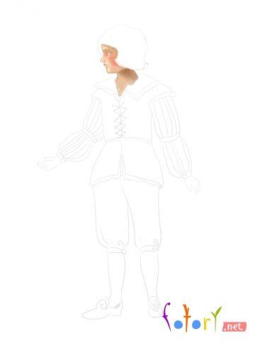 Як намалювати олівцем людей схеми для початківців 13