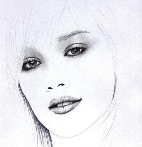 Як намалювати олівцем людей схеми для початківців 26