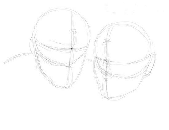 Як намалювати олівцем людей схеми для початківців 30